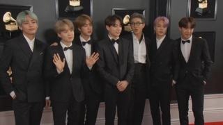 K-pop : BTS défile sur le tapis rouge aux Grammy Awards
