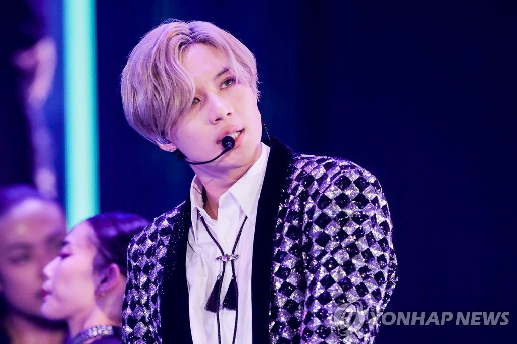 A file photo of K-pop singer Taemin, provided by SM Entertainment (PHOTO NOT FOR SALE) (Yonhap)