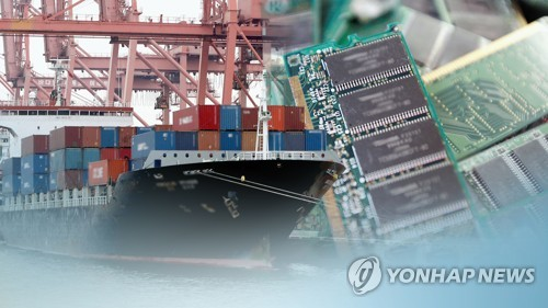 (3rd LD) Korea's exports down for 12th month amid trade rows, chip slump