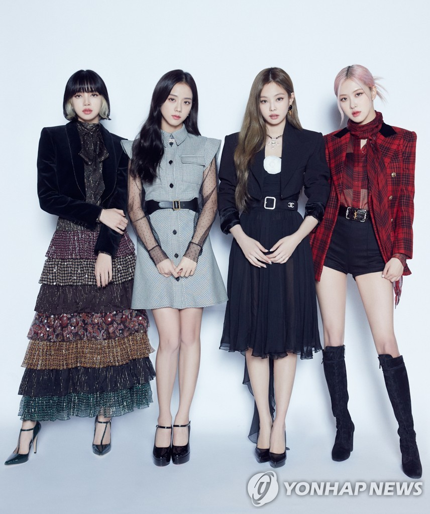 This photo, provided by YG Entertainment, shows K-pop girl group BLACKPINK. (PHOTO NOT FOR SALE)(Yonhap)