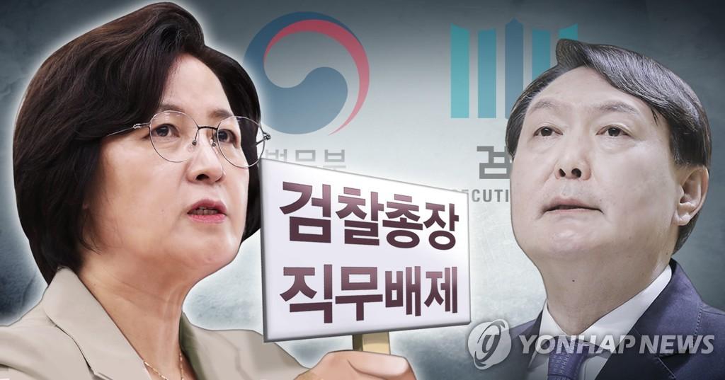추미애 장관, 윤석열 검찰총장 직무배제 명령 (PG)