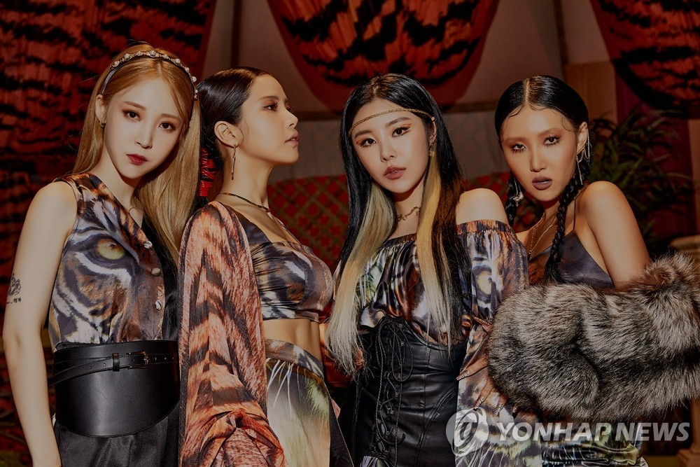 This photo, provided by RBW Entertainment on Jan. 24, 2021, shows K-pop girl group Mamamoo. (PHOTO NOT FOR SALE) (Yonhap)