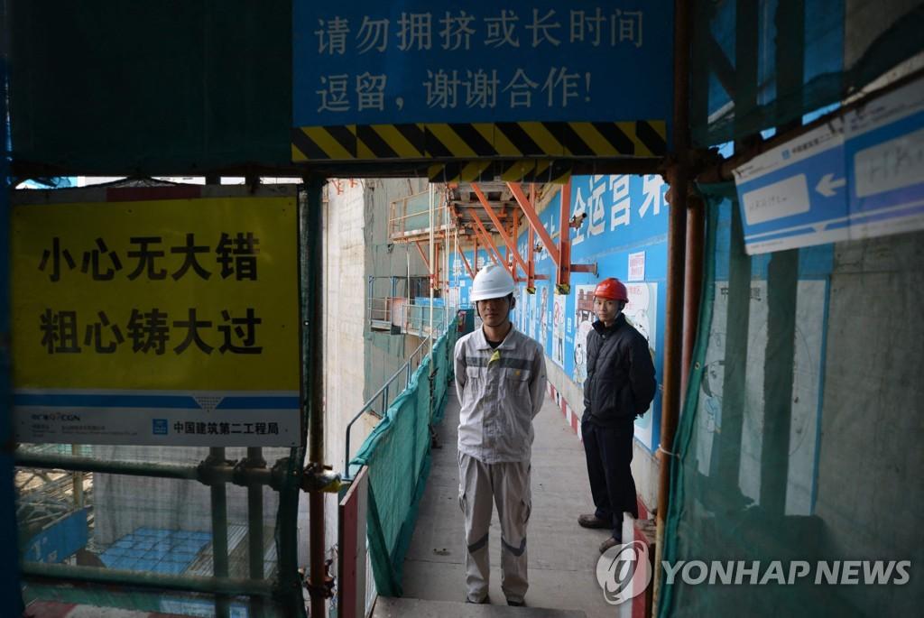 중국 광동성 타이산 원자력 발전소의 2013년 모습