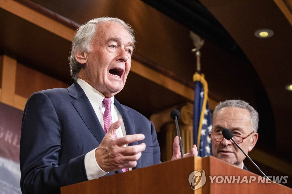 This AFP file photo shows Sen. Ed Markey (D-MA). (Yonhap)