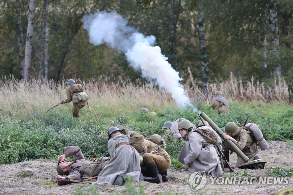 Military and historical festival in Russia's Leningrad Region