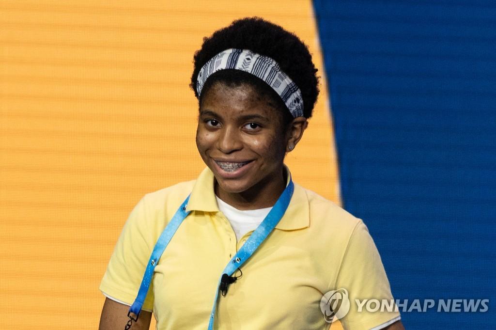 미국 영어 철자 맞춤법 대회에서 우승한 자일라 아방가르드 [로이터=연합뉴스]