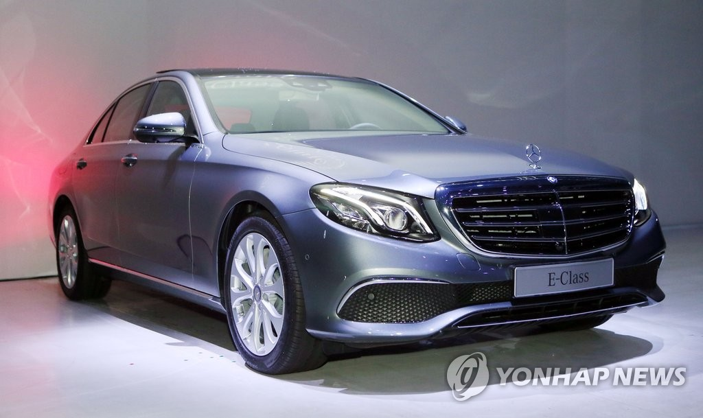 Nouvelle Classe E de Mercedes-Benz. (Photo d'archives Yonhap)