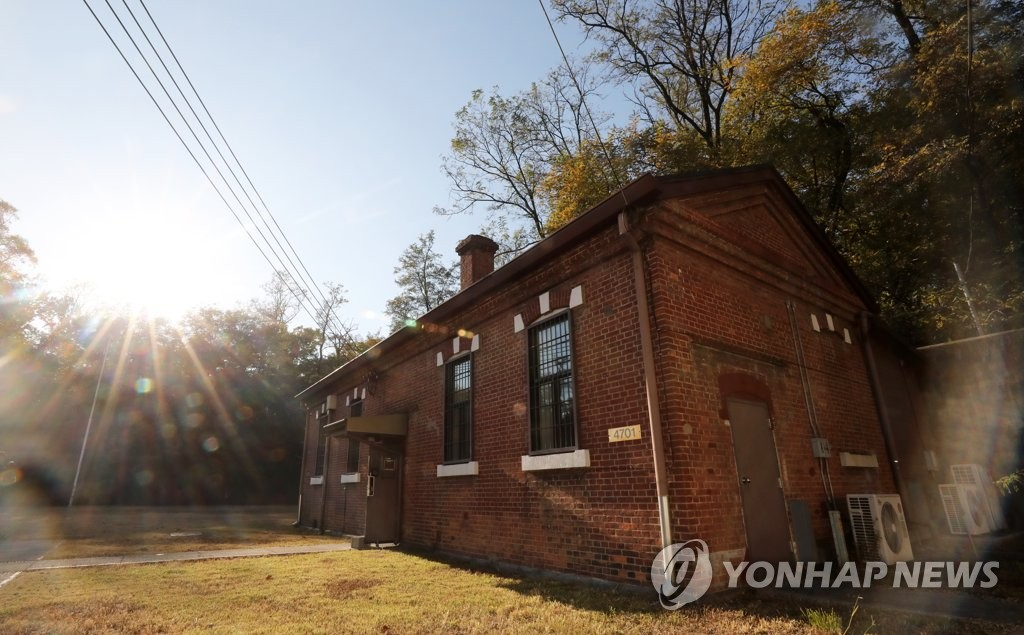 This photo taken on Nov. 2, 2018, shows a prison inside Yongsan Garrison used by the Japanese military during the colonial period of 1910-1945. (Yonhap)