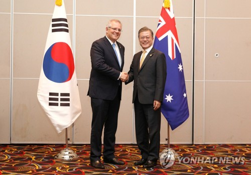 Moon meets Australian PM