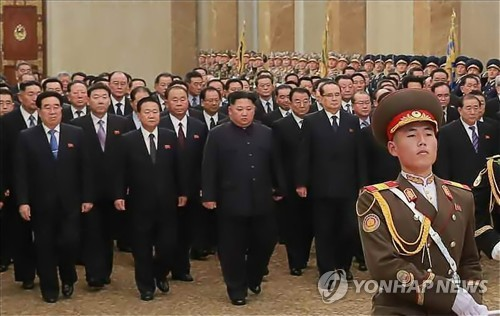NK leader visits father's tomb