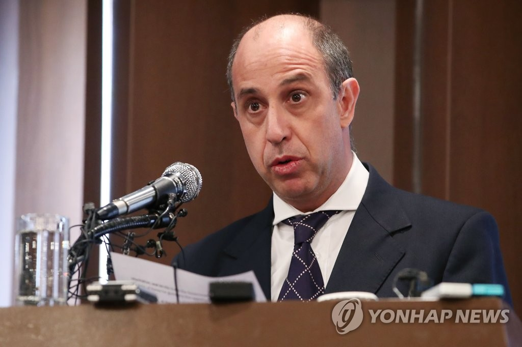 U.N. official on N.K. human rights holds press conference