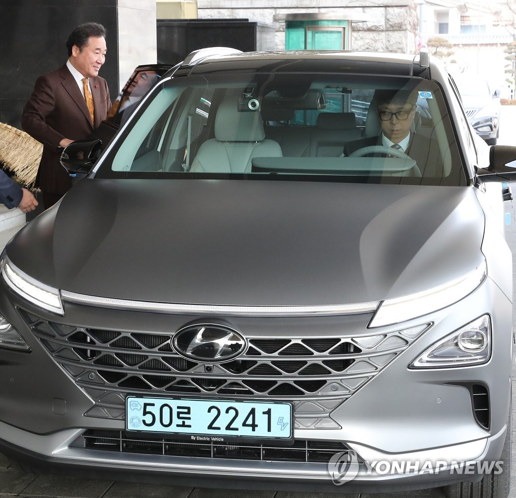 Prime Minister Rides Hydrogen Fuel Cell Electric Car