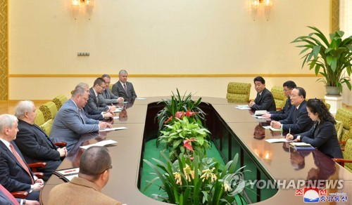 Russian parliamentary delegation visits P'yang