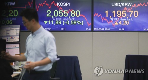 S. Korean stocks dip 7 pct after Trump's tariff remark