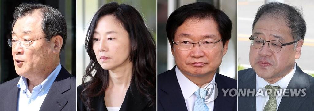 '세월호 특조위 방해' 이병기·조윤선 1심 집유…안종범 무죄