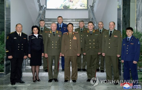 Russian defense delegation in N.K.