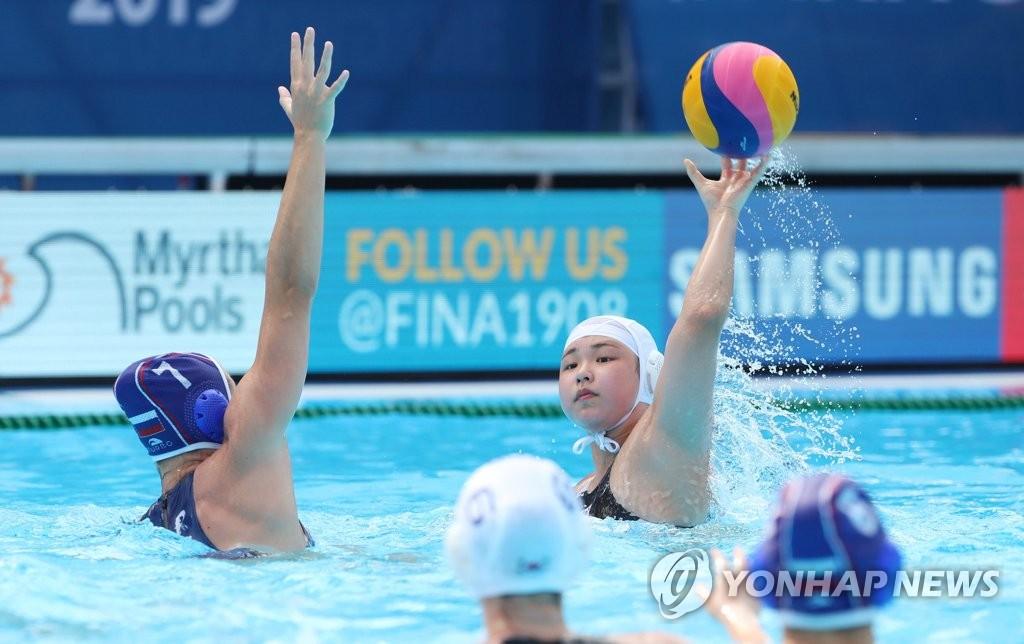 -광주세계수영- 女수구, 역사적인 첫 골…아티스틱·다이빙은 예선 탈락 | 연합뉴스