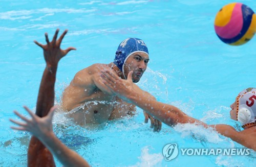 (Gwangju Swimming) Italy beats Spain for men's water polo title
