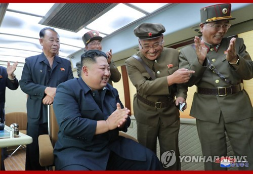 N. Korean leader supervises weapon test