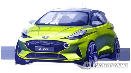 Rendering of Hyundai Motor's all-new i10