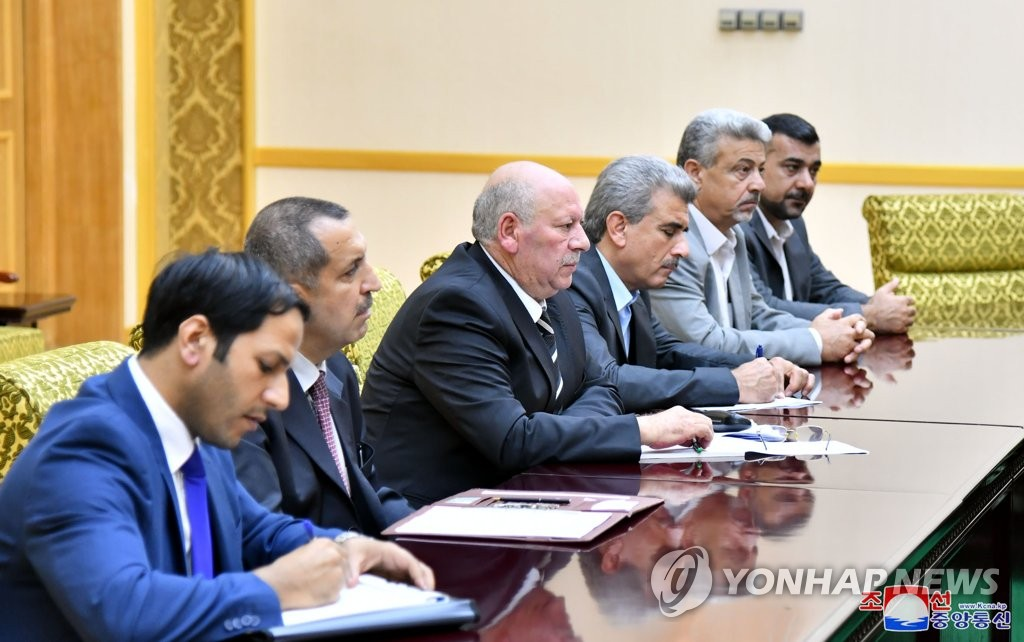 Syrian delegation in NK