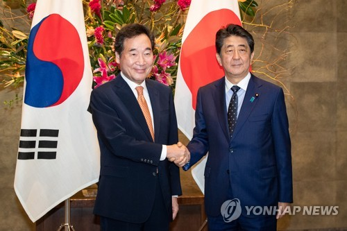 (LEAD) Prime Minister Lee delivers President Moon's letter to Abe on Seoul-Tokyo ties