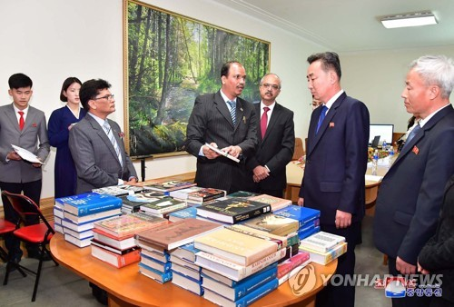Indian Embassy donates books to Pyongyang University