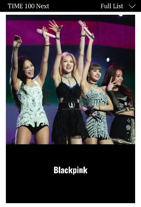 Blackpink listed on Time 100 NEXT list