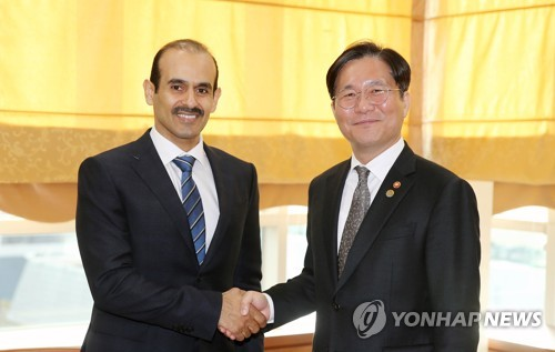 S. Korean industry minister meets with Qatar energy minister