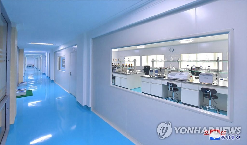 This photo, taken from the website of the Korean Central News Agency on Nov. 29, 2019, shows the interior of the High-tech Development Institute dedicated at Kim Il-sung University in Pyongyang. (For Use Only in the Republic of Korea. No Redistribution) (Yonhap)