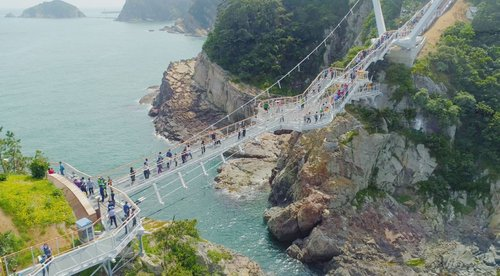 Yonggung Suspension Bridge reopening