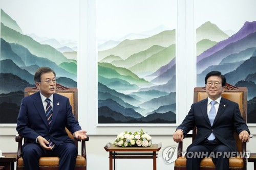 President meets Assembly speaker