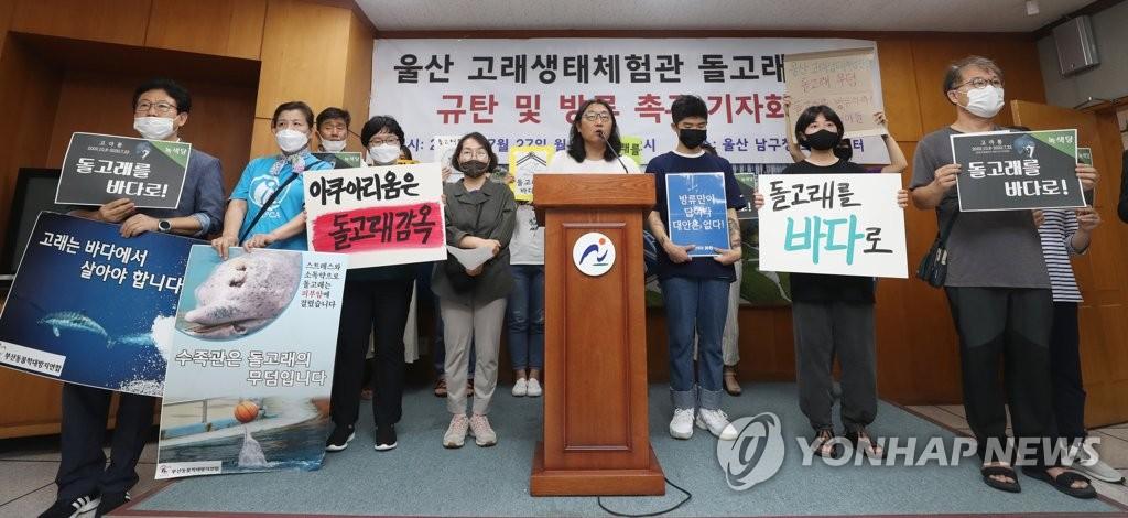 돌고래 폐사 규탄·방류 촉구 기자회견