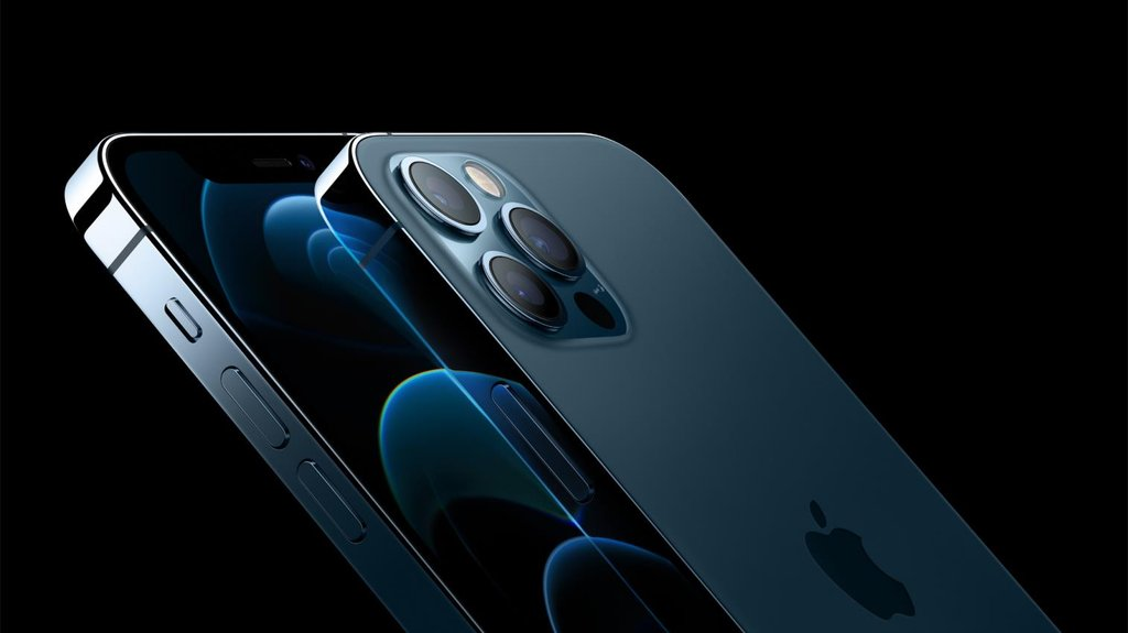 Apple Inc.'s new iPhone 12 is shown in this photo provided by the company on Oct. 14, 2020. (PHOTO NOT FOR SALE) (Yonhap)