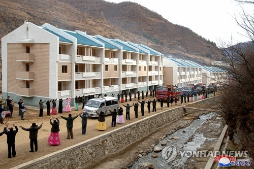 New residences for typhoon victims in N.K.