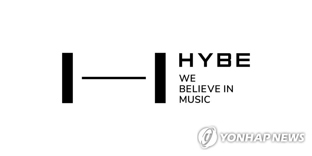 This photo, provided by Hybe, shows its company logo carrying its name Hybe. On March 19, 2021, Big Hit founder and Chief Executive Bang Si-hyuk announced a plan to change his company's name from Big Hit Entertainment to Hybe. (PHOTO NOT FOR SALE) (Yonhap)
