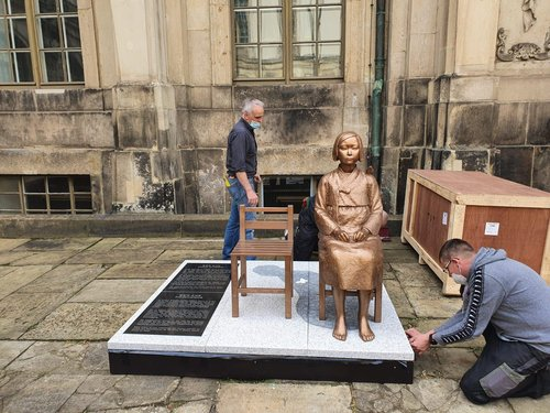 Comfort woman statue in Germany