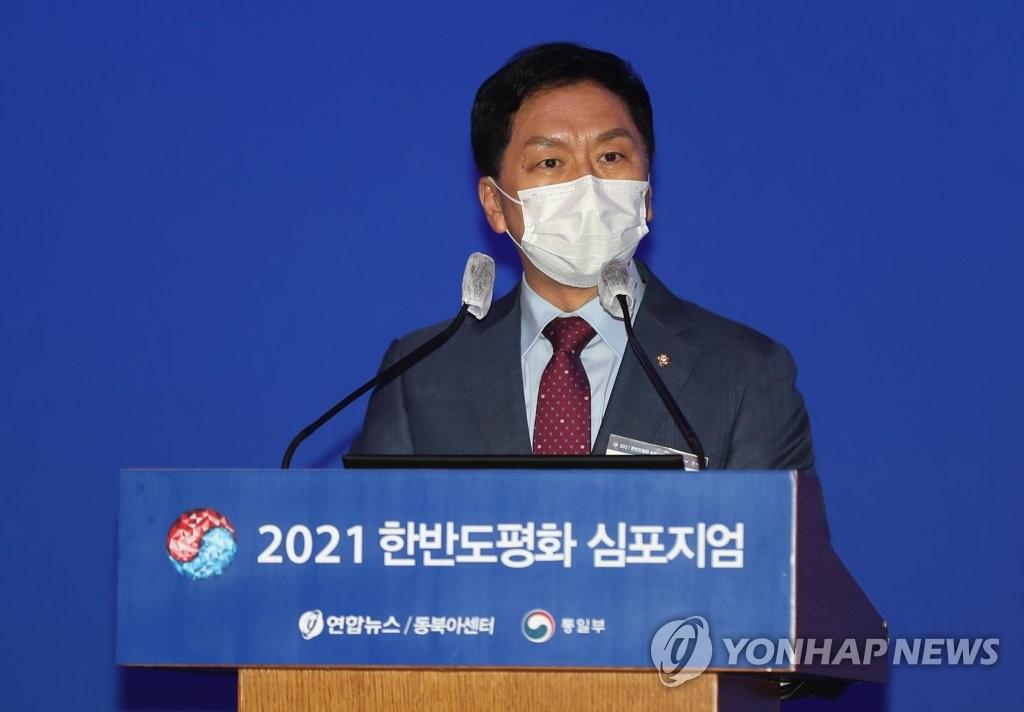 축사하는 국민의힘 김기현 원내대표